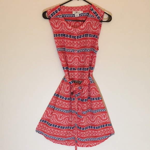 Vineyard Vines Silk Blend Sleeveless Dress